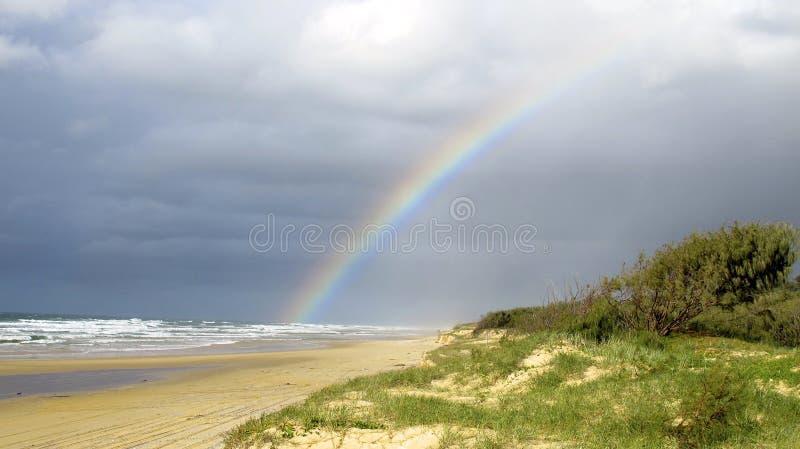 Spiaggia dell'arcobaleno, Queensland, Australia fotografia stock libera da diritti