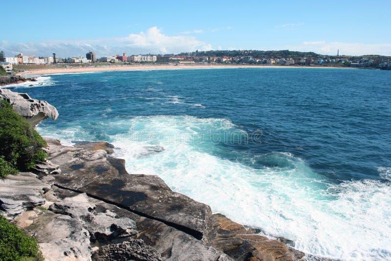 Spiaggia dell'Australia Bondi fotografia stock