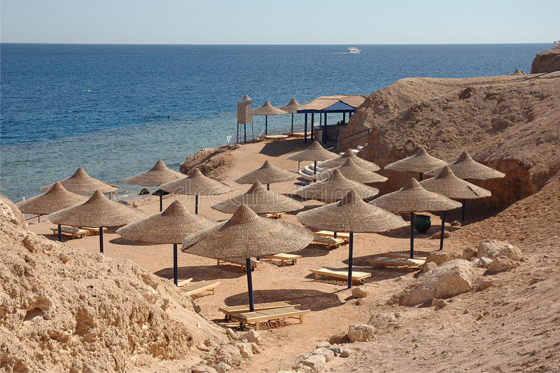Spiaggia dell'Egitto fotografia stock libera da diritti