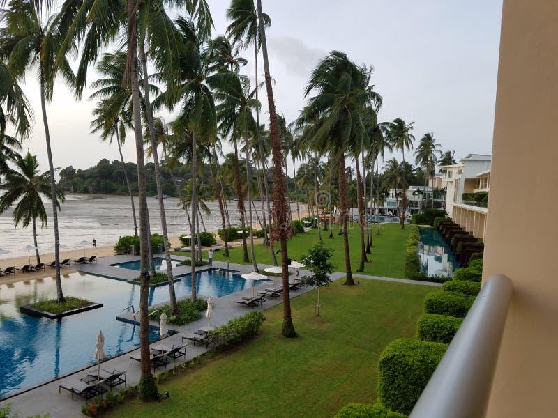 spiaggia dell'hotel immagine stock