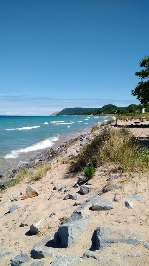 Spiaggia dell'impero, Michigan immagini stock