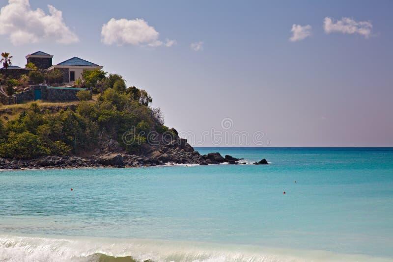 Spiaggia dell'isola della st Maarten fotografia stock libera da diritti