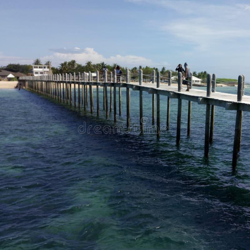 Spiaggia dell'isola di Lakawon fotografia stock