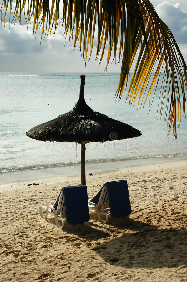 Spiaggia dell'Isola Maurizio immagine stock
