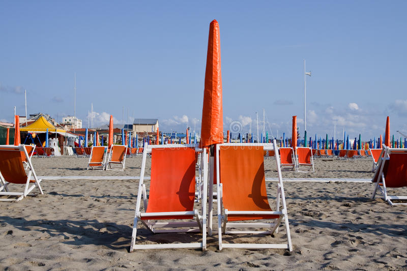 Spiaggia Dell Italia Fotografia Stock