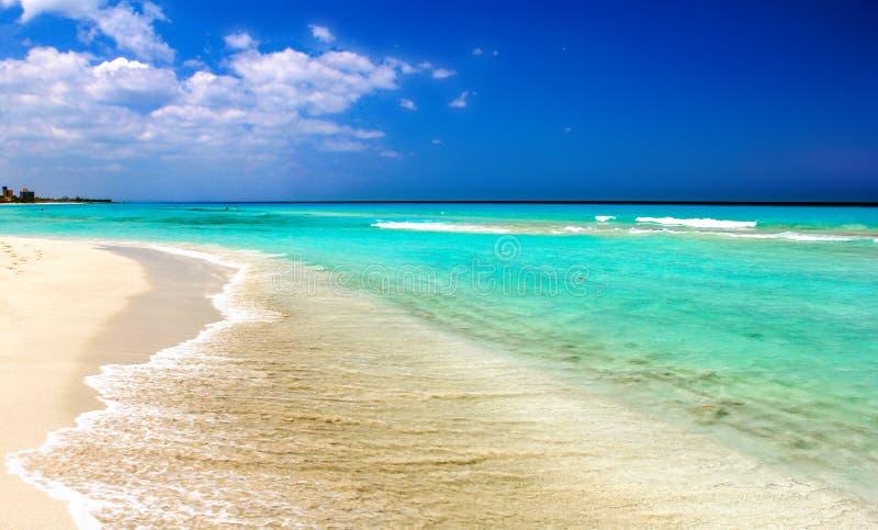 Spiaggia dell'oceano di Varadero fotografia stock