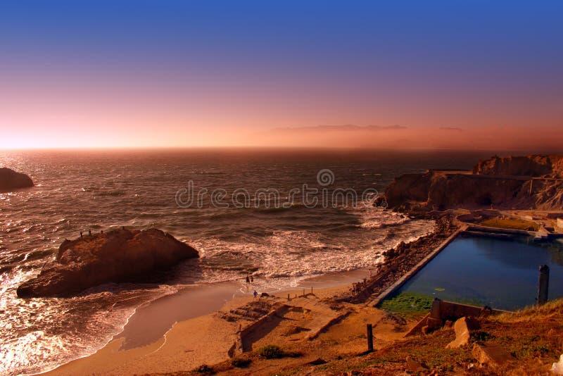 Spiaggia dell'oceano, San Francisco immagini stock libere da diritti