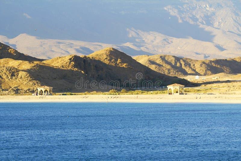 Spiaggia dell'Oman, paesaggio di Mirbat immagine stock libera da diritti