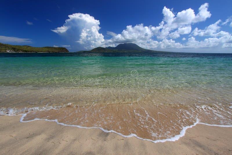 Spiaggia della baia del maggiore - st San Cristobal immagini stock