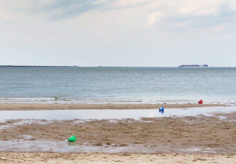 Spiaggia della baia di Chesapeake immagini stock libere da diritti