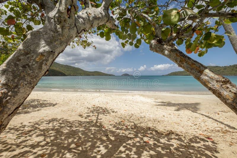 Spiaggia della baia di Magens in San Tommaso immagine stock libera da diritti
