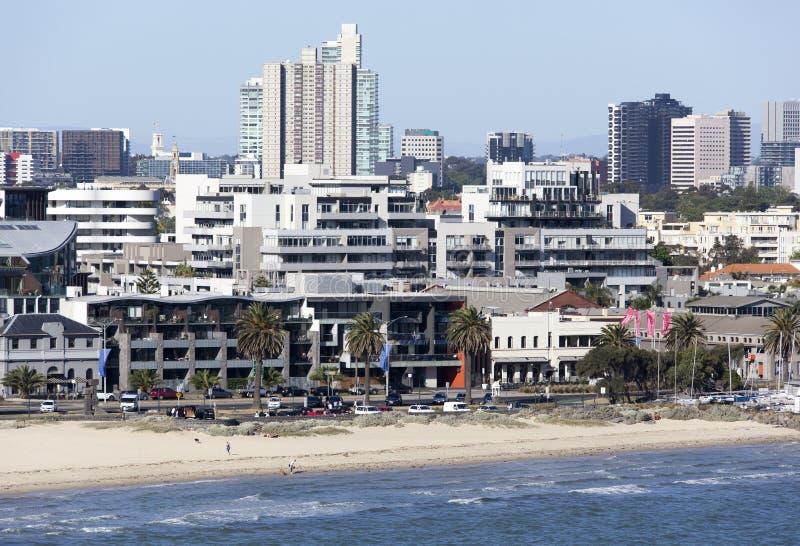 Spiaggia della città di Melbourne fotografia stock