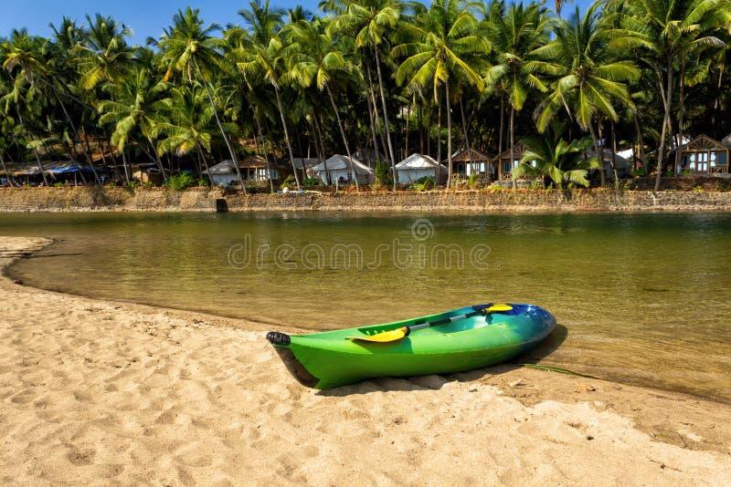 Spiaggia della cola, Goa del sud, India fotografie stock libere da diritti