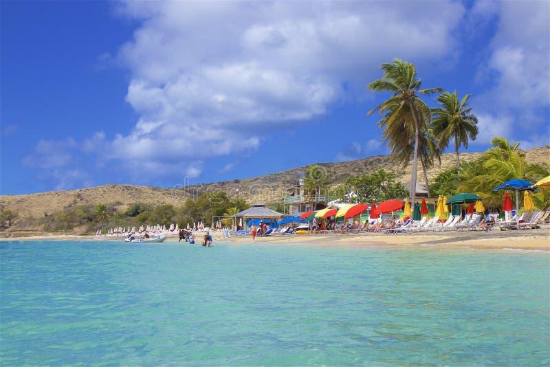 Spiaggia della conchiglia in st San Cristobal, i Caraibi immagine stock libera da diritti