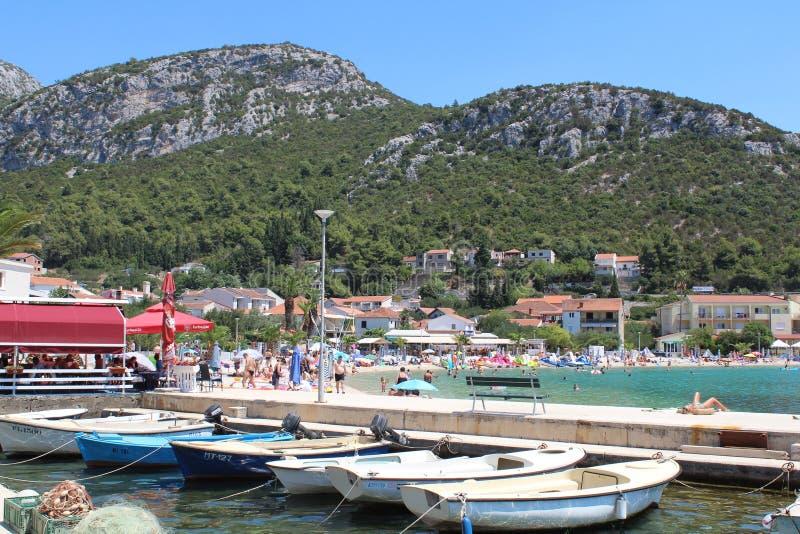 Spiaggia della località di soggiorno fotografie stock