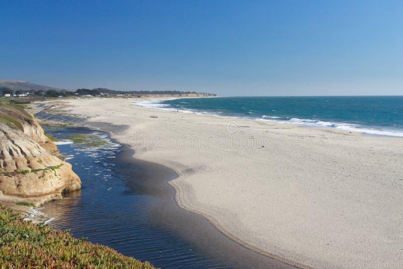 Spiaggia della luna mezza fotografia stock libera da diritti