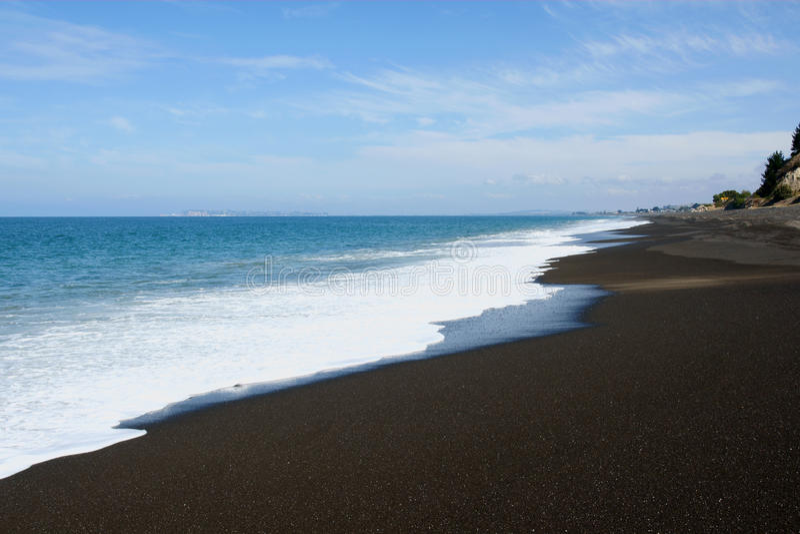 Spiaggia della Nuova Zelanda fotografia stock