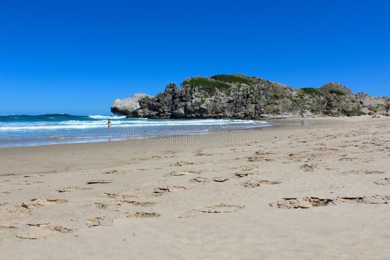 Spiaggia della riserva naturale di Robberg fotografie stock libere da diritti