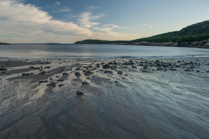 Spiaggia della sabbia, sosta nazionale di Acadia, Maine immagine stock libera da diritti