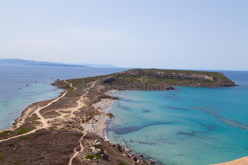 Spiaggia della Sardegna in Italia fotografia stock
