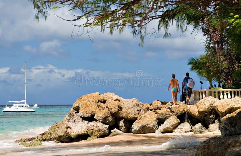 Spiaggia delle Barbados fotografie stock