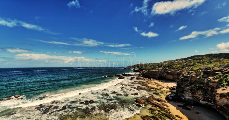 Spiaggia delle caverne fotografie stock libere da diritti