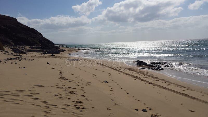 Spiaggia delle isole Canarie immagini stock libere da diritti