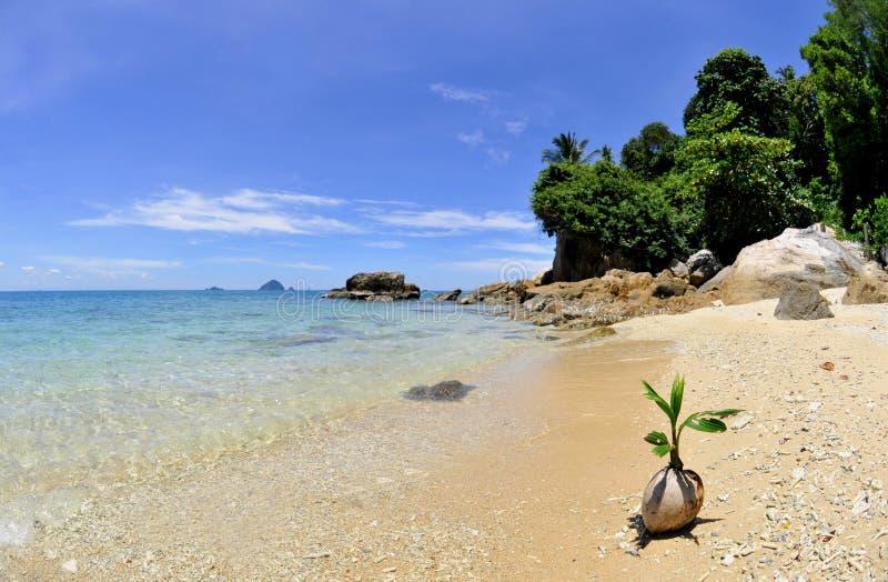 Spiaggia delle isole di Perhentian fotografie stock