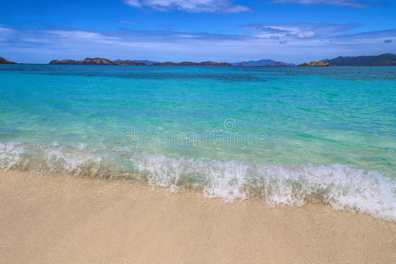 Spiaggia dello zaffiro - St Thomas fotografie stock