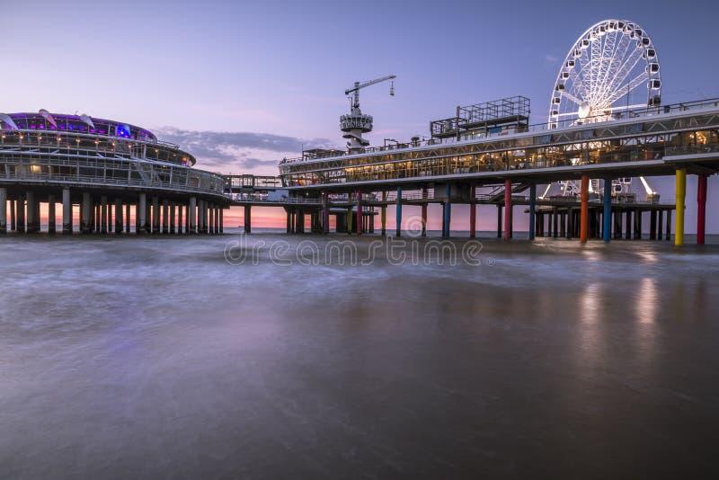 Spiaggia Den Haag di Scheveningen immagini stock libere da diritti