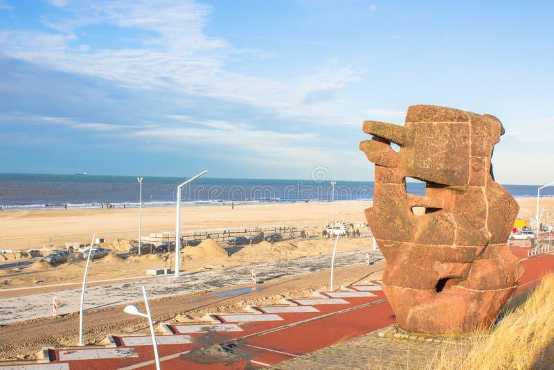 Spiaggia Den Haag di Scheveningen fotografie stock libere da diritti