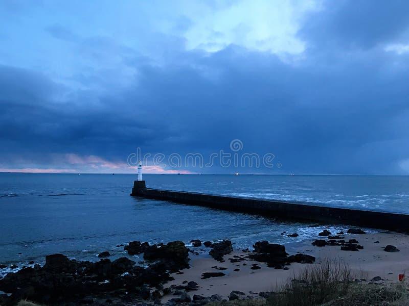 Spiaggia di Aberdeen fotografia stock