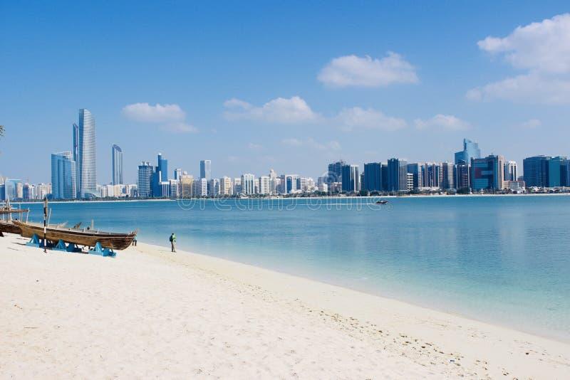Spiaggia di Abu Dhabi immagini stock libere da diritti