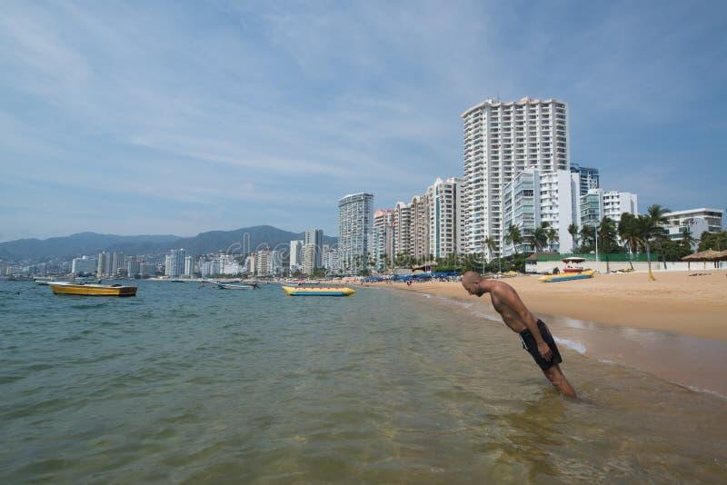 Spiaggia di Acapulco immagini stock