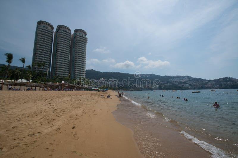 Spiaggia di Acapulco fotografia stock libera da diritti