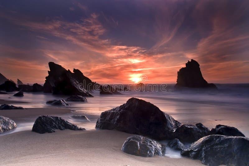 Spiaggia di Adraga fotografia stock