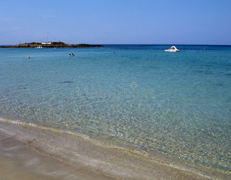 Spiaggia di Agia Napa fotografie stock libere da diritti
