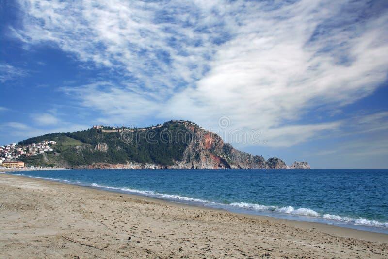 Spiaggia di Alanya fotografie stock