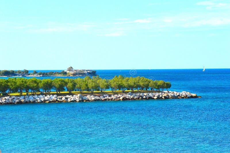Spiaggia di Alimos immagine stock