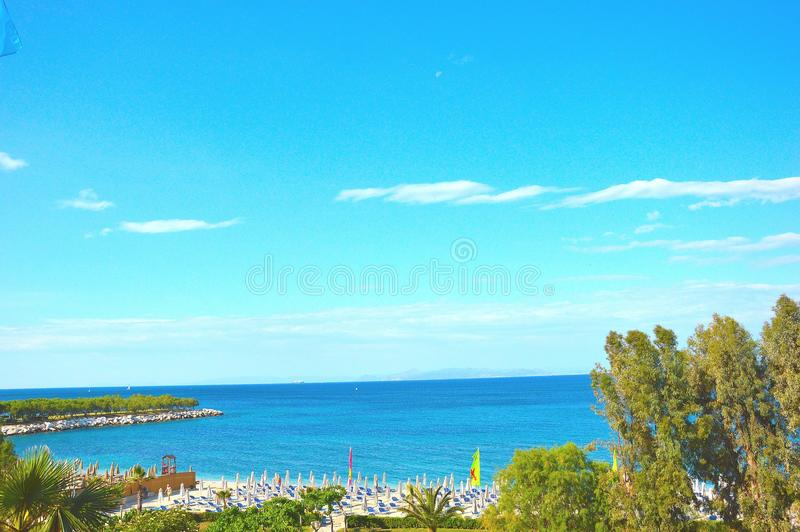 Spiaggia di Alimos fotografia stock libera da diritti
