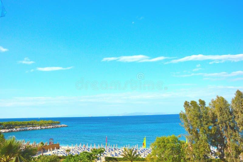 Spiaggia di Alimos fotografia stock