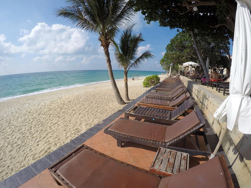 Spiaggia di Aloha Resort Koh Samui Lamai immagini stock libere da diritti