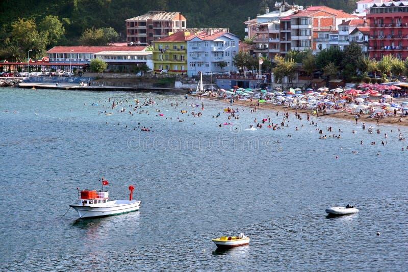 Spiaggia di Amasra a Bartin in Turchia fotografia stock libera da diritti