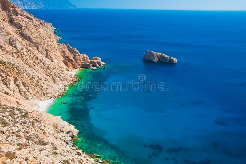 Spiaggia di Amorgos in Grecia fotografia stock