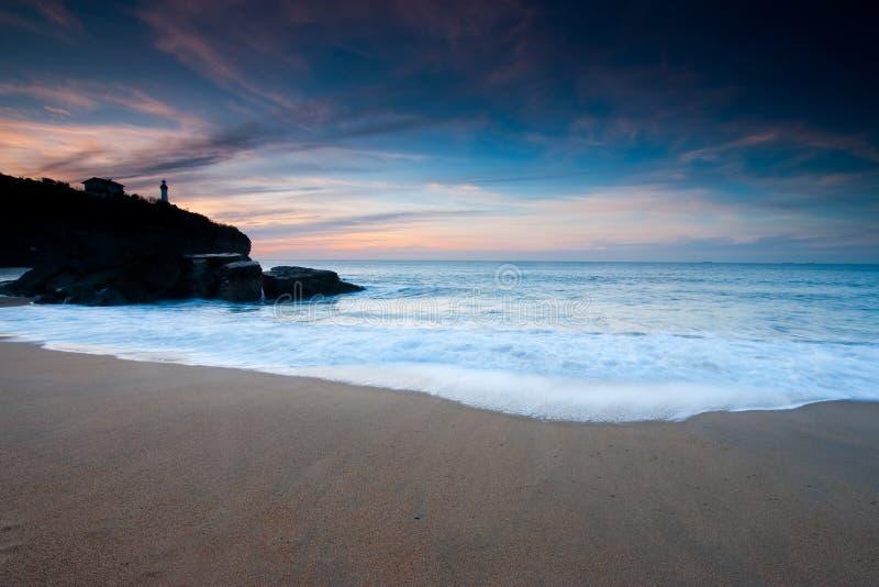 Spiaggia di Anglet fotografia stock