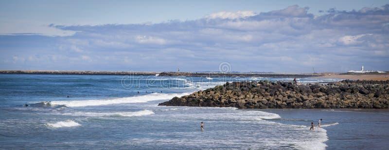 Spiaggia di Anglet immagini stock