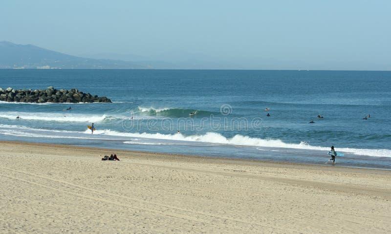Spiaggia di Anglet immagine stock