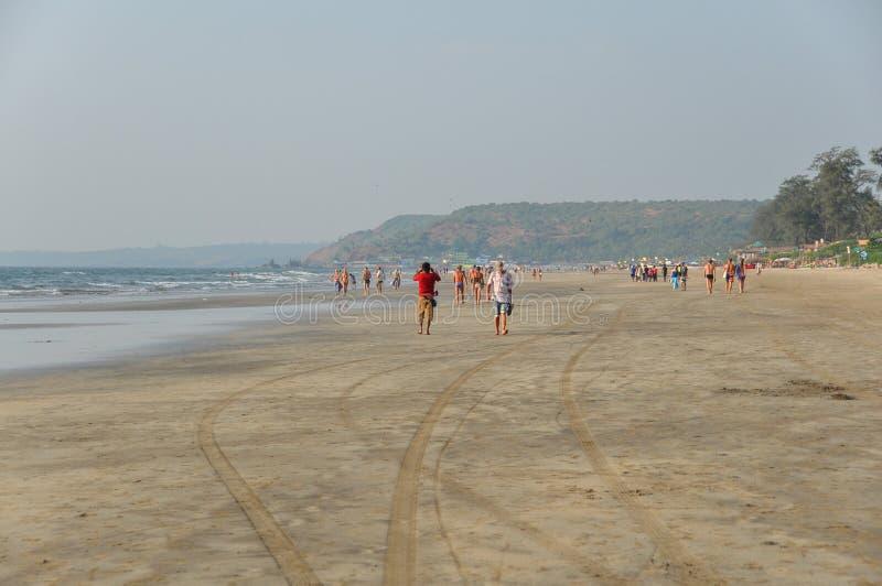 Spiaggia di Arambol in Goa immagine stock libera da diritti