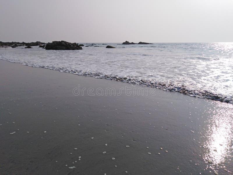 Spiaggia di Arambol, Goa, India immagine stock