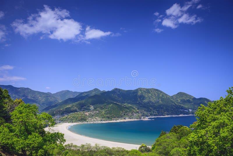 Spiaggia di Atashika, Giappone fotografia stock libera da diritti